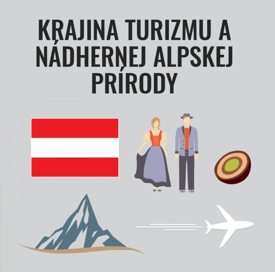 Krajina turizmu a nádhernej alpskej prírody