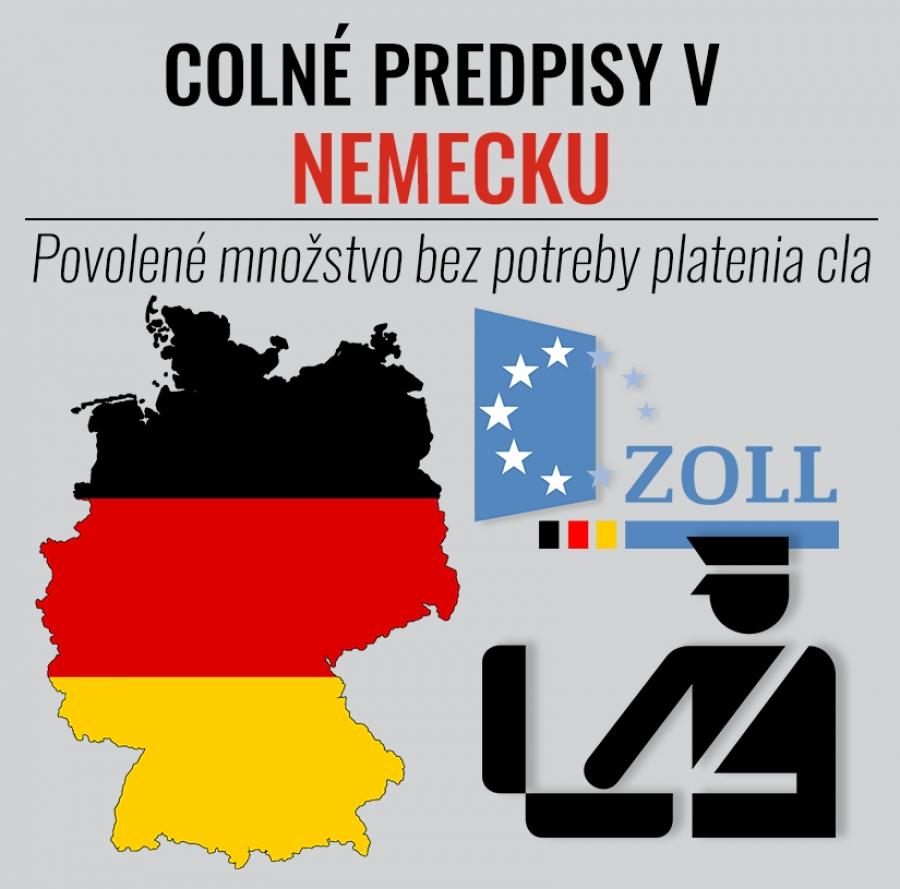 Colné predpisy v Nemecku. Povolené množstvo bez potreby platenia cla